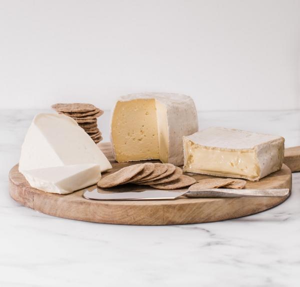 Sharpham Cheese selection naked