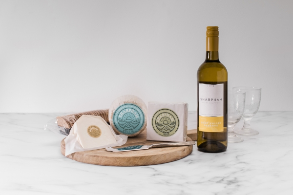 Sharpham Cheese and Wine selection-4
